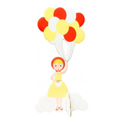 Pop Out Cards: Girl With Balloons