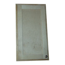 """WG Wood Products - 37"""" Mesa Breaker Panel Frame and Door - Cover up that ugly breaker panel or other access opening.  Easy installation.  Simply screw it to the drywall around the opening or around the panel that you wish to conceal.      Concealed hinges, door is left undrilled for a knob or handle so you can mount it to open either direction.  Measures 37.5h x 17.5w.   Natural pine finish can be painted or stained.  Solid Maple Shaker style door.  Proudly made in the USA.   The area inside the frame behind the door will be 14 1/2""""w x 34 1/2""""h."""
