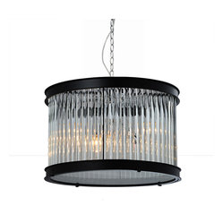 Bromi Design Sussex Glass and Metal 1-Light Pendant