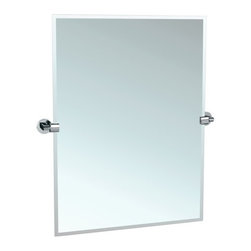 "Gatco - Gatco 4109S Chrome Zone Zone 23-1/2 Inch Beveled Edge Tilting - Zone 23-1/2 Inch Beveled Edge Tilting Rectangular Wall MirrorThe finest in fashion bath, kitchen and home accessories. From traditional to contemporary, offering a variety of designer collections to compliment your style. Choose from many bathroom accessories such as towel bars, mirrors, grab bars, shower curtain rods, hooks, and free standing and counter top accessories.Simple lines, perfect planes equal elegant living. Zone offers extreme simplicity in every element and detail. Truly less is more with this Minimalist Design.Features:Titling Wall MirrorBeveled GlassRectangular MirrorSpecifications:Width: 23.5""Height: 31.5"""
