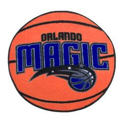 Fanmats - NBA Orlando Magic Rug Basketball Shaped Mat - FEATURES: