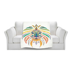 DiaNoche Designs - Throw Blanket Fleece - Whimsical Lion - Original artwork printed to an ultra soft fleece blanket for a unique look and feel of your living room couch or bedroom space. Dianoche Designs uses images from artists all over the world to create Illuminated art, canvas art, sheets, pillows, duvets, blankets and many other items that you can print to. Every purchase supports an artist!
