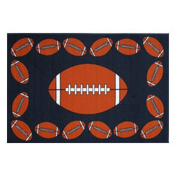 Fun Rugs - Fun Time - Football Time Kids Rugs - 39 x 58 in. - Your child's room is a natural extension of them. Add these innovative designs to spruce up any child's decor.