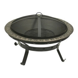 Dagan Antique Gold Cast Iron Outdoor Fire Pit - Accented delicately with gold, the Dagan Antique Gold Cast Iron Outdoor Fire Pit will add subtle elegance to your backyard. -Mantel Direct