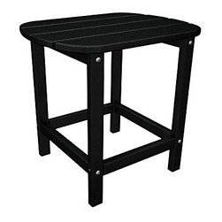 """Polywood - """"Polywood Outdoor Furniture 15 """""""" Side Table, Black-Recycled Plastic ..."""" - """"Polywood Outdoor Furniture 15 """""""" Side Table, Black-Recycled Plastic Materials South Beach 15"""""""" side table is part of the South Beach collection from Poly-Wattood. It's been made from amazingly durable recycled plastic polymer crafted to look and feel like real wood.  Mix and match colors and pieces to create your own beautiful collection. Product Measures: 19 by 15 by 18 IN"""""""