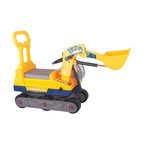Vroom Rider - Vroom Rider Ride-on 6-Wheel Bulldozer Riding Push Toy with Back - VRBR02 - Shop for Tricycles and Riding Toys from Hayneedle.com! The Vroom Rider Ride-on 6-Wheel Bulldozer Riding Push Toy with Back is just what your child needs to live out his childhood dream of becoming a construction worker. Designed for hours of fun and pretend play this bulldozer is constructed of sturdy eco-friendly plastic. It sits on six rolling wheels and moves forward or backward with push. It even features a backrest so your little help can rest his tired back and take a break after a day's toil. A real working lever makes picking up dirt child's play. For ages 2 to 5 years. Weight capacity: 66 lbs.About Vroom RiderConsidering the safety and well being of a child as being of paramount importance Vroom Rider a Merske LLC company enforces very strict safety and quality tests to make their toys absolutely safe to use. They believe that entertainment is crucial for children's development and achievement of new skills which is why they hire only specialists within the industry to research and design products that are safe useful durable and affordable. By using their own products in their homes as well as listening to their customers' feedback Vroom Rider is able to offer products that consistently meet their customer's expectations.