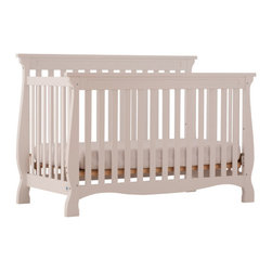 Storkcraft - Carrara Fixed Side Convertible Crib - The Carrara 4 in 1 Fixed Side Convertible Crib by Stork Craft adds class to your nursery! This crib is not only stunning, but it's versatile, as your baby grows simply convert the crib to a toddler bed to a daybed and finally to a full size bed. All sides are stationary and include a three position adjustable mattress support base to add to the security and stability of this simple yet elegant crib. Set-up this timeless piece effortlessly with its simple and easy. Complete your nursery look by adding complimentary accessories by Stork Craft. Features: -Designed with safety in mind as it meets current U.S. and Canada safety standards.-Converts from a full size crib to a toddler bed, to a daybed, to a full-size bed (Full size bed rails NOT included).-Solid stationary sides offer security and stability to last a lifetime.-Three mattress-support positions to accommodate your babies growth.-JPMA certified.-Solid wood and wood product construction.-Non toxic, durable finishes.-Carrara collection.-Collection: Carrara.-Distressed: No.Dimensions: -40.83'' H x 29.92'' W x 59.02'' D, 59.5 lbs.-Overall Product Weight: 59.5 lbs.Warranty: -1 Year limited manufacturer's warranty.