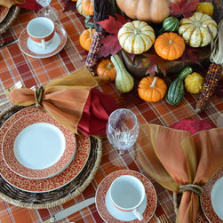 Holiday Dining - Parchment Rouge brings a tabletop to life with a