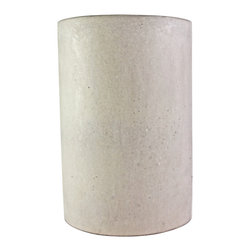 Culinarium - Utensil Holder, Gray - This utensil holder is not composed of typical concrete. It has taken years to perfect this mix design.  All of our concrete items are composed of an advanced cementitious mix which utilizes extremely small particulate, as well as recycled granite and marble dust that is sourced locally from the countertop industry...The result is an incredibly strong, smooth, and tactile surface that is more similar in physical characteristics to ceramic or aluminum than it is to concrete!