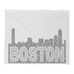 DENY Designs - Restudio Designs Boston Skyline 1 Fleece Throw Blanket - This DENY fleece throw blanket may be the softest blanket ever! And we're not being overly dramatic here. In addition to being incredibly snuggly with it's plush fleece material, it's maching washable with no image fading. Plus, it comes in three different sizes: 80x60 (big enough for two), 60x50 (the fan favorite) and the 40x30. With all of these great features, we've found the perfect fleece blanket and an original gift! Full color front with white back. Custom printed in the USA for every order.