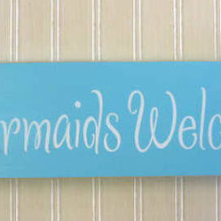 Mermaid Sign Mermaids Welcome
