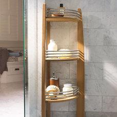 Traditional Shower Caddies Teak Corner Shelf Caddy