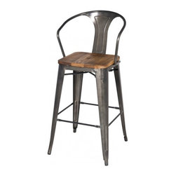 Apt2B - Grand Metal Bar Chair SET OF 4, Gunmetal - Meet our newest love - The Grand. Available in a variety of cool colors, you can mix and match to suit your style. Versatile and modern, this counter chair can go anywhere and look grand.