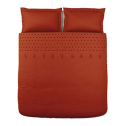 IKEA of Sweden - TANJA BRODYR Duvet cover and pillowsham(s) - Duvet cover and pillowsham(s), red-orange