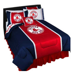 Store51 LLC - MLB Boston Red Sox Bedding Set Baseball Bed, Twin - Features: