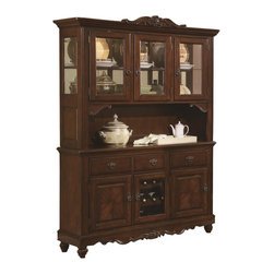 Coaster - Coaster Addison China Cabinet in Cherry Brown - Coaster Addison China Cabinet in Cherry Brown 103514 Collection