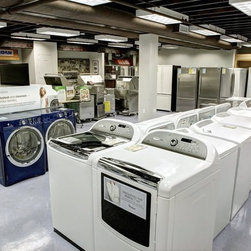 Showroom - Electrolux, Fisher & Paykel, General Electric, Maytag, Samsung and Whirlpool are some of the brands of laundry we show and sell.
