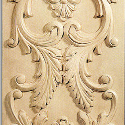 "Inviting Home - San Diego Door Panel - maple wood (PN13/pl7) - door panel in maple wood; 12-7/8""W X 18-7/8""H x 3/4""D Wood panels are hand carved from premium selected hardwoods: hard maple cherry and white oak. Panels are carved in deep relief design to achieve the highest degree of quality and details. Carved wood panels are triple sanded ready to accept stain or paint. These wood panels are perfect for wall applications cabinet doors finishing touches on the custom cabinets."