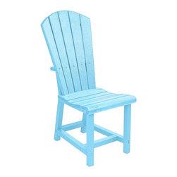 C.R. Plastic Products - C.R. Plastics Addy Dining Side Chair In Aqua - C.R. Plastics Addy Dining Side Chair In Aqua