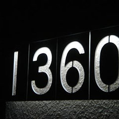 contemporary house numbers by ThinkGeek