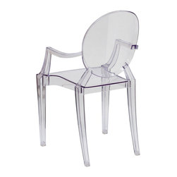 Flash Furniture - Flash Furniture Ghost Chairs Crystal Transparent Ghost Chairs - Create a beautiful and artistic statement with the Louis Inspired Ghost Chair. This chair will lighten up any room and provide a grand statement. The transparency of the chair allows it to take up less space visually as with a solid chair. The versatility of this chair makes it look great in any contemporary indoor setting, but suitable for outdoor seating as well. Showing off this masterpiece will also not break your budget, but will just look like you did! The lightweight quality built chair was built to give you years of use and comfort. [FH-124-APC-CLR-GG]