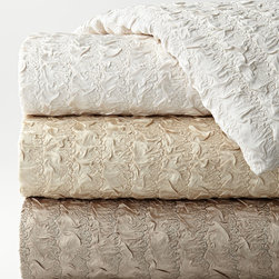 """Dian Austin Couture Home - Queen Plisse Duvet Cover 90"""" x 95"""" - CREAM (95""""L X 90""""W) - Dian Austin Couture HomeQueen Plisse Duvet Cover 90"""" x 95""""Designer About Dian Austin Couture Home:Taking inspiration from fashion's most famous houses of haute couture the Dian Austin Couture Home collection features luxurious bed linens and window treatments with a high level of attention to detail. Acclaimed home designer Dian Austin introduced the collection in 2006 and seeks out extraordinary textiles from around the world crafting each piece with local California artisans."""