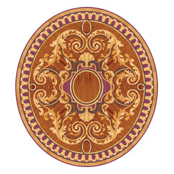 Wood Medallion Royal - This design received the Best Floor of the Year 2007 award. Exclusive wood species were used in this floor such as Amarant, Karelian Birch etc
