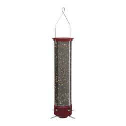 Droll Yankees - Yankee Red Dipper Feeder - Prevent large birds and squirrels from eating all your bird food with this bird feeder. This red feeder will not only attract birds but will look great in your yard or garden.