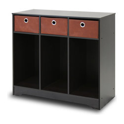 Furinno - Furinno 10006EX/BR Multipurpose Storage - Furinno EX Home Living Sets comprises of Coffee table, end table, TV entertainment stands, wall mounted storage and storage cabinets. The home living set comes in espresso with brown non-woven bins - . These models are designed to fit in your space, style and fit on your budget.  The main material,  Particleboard, is made from recycled materials of rubber trees, eco-friendly. All the materials are manufactured in Malaysia and comply with the green rules of production. There is no foul smell, durable and the material is the most stable amongst the particleboards. A simple attitude towards lifestyle is reflected directly on the design of Furinno Furniture, creating a trend of simply nature. All the products are produced and packed 100-percent in Malaysia with 90% - 95% recycled materials.