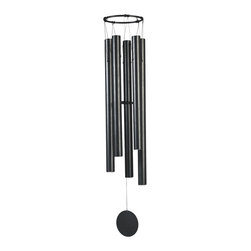 GSC - 50 Inch Gunmetal Traditional Wind Chimes with Round Shaped Wind Scoop - This gorgeous 50 Inch Gunmetal Traditional Wind Chimes with Round Shaped Wind Scoop has the finest details and highest quality you will find anywhere! 50 Inch Gunmetal Traditional Wind Chimes with Round Shaped Wind Scoop is truly remarkable.