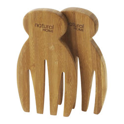Bamboo Salad Hands - Serve salads easily with these 100% bamboo salad hands. 4-by-7-inch salad servers.