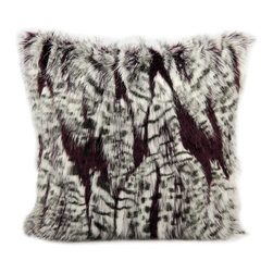Nourison - Mina Victory Faux Fur 18-inch Throw Pillow - Indulge your taste for luxury with the soft and magnificent Mina Victory Faux Fur throw pillows. Show your impeccable taste and make your seating area inviting in an instant with these artistic creations.