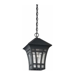 Sea Gull Lighting - 1-Light Pendant Black - 60131-12 Sea Gull Lighting Herrington 1-Light Outdoor Pendant with a Black Finish