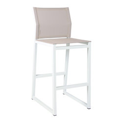 Mamagreen - Allux Mazzamiz Bar Chair - The Allux Mazzamiz Bar Chair combines highly weather resistant powder coated aluminum with durable textile, to The mesh and angled back make for a comfortable sit. Available in a variety of mesh colors.