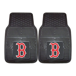 Fanmats - Fanmats Boston Red Sox 2-piece Vinyl Car Mats - Proclaim your super-fan status with these Fanmats vinyl car mats, which are printed with the Boston Red Sox logo. Each mat in this two-piece set is made with durable vinyl to protect your car and is designed to fit in most standard vehicles.
