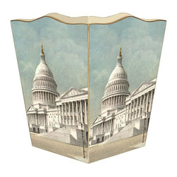 Marye-Kelley - The Capitol Washington D.C. Wastebasket - The Capitol Washington D.C. Wastebasket