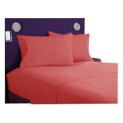 SCALA - 1000Tc King Size Brick Red Color Sheet Set - We offer supreme quality Egyptian Cotton bed linens with exclusive Italian Finishing. These soft, smooth and silky high quality and durable bed linens come to you at a very low price as these come directly from the manufacturer. We offer Italian finish on Egyptian cotton, which makes this product truly exclusive, and owner's pride. It's an experience and without it you are truly missing the luxury and comfort!!