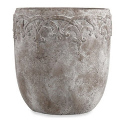 "IMAX - Cohen Large Flower Pot - Resembling a concrete texture, this simple flower pot has a beautiful sophisticated elegance. Item Dimensions: (18.25""h x 17.75""w x 17.75"")"