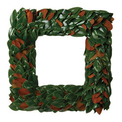 Original Magnolia Square Wreath - We continue to offer our square wreaths for those who want a little something different.