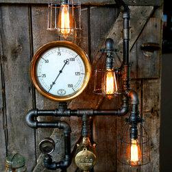 Machine Age Lamps Steampunk Gear Steam Gauge -