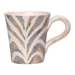 Vietri - Safari Mug - Handmade of terra bianca in Tuscany. Dishwasher Safe.