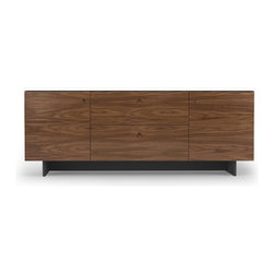 Spot on Square - Roh Credenza, Walnut with White - The Spot on Square Roh Credenza - Walnut with White. Designed by Bob Springer, Nicole Springer, Spot On Square, part of the Spot on Square Roh Family.