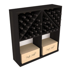 Wine Racks America - Solid Case/Bottle Storage Bin in Redwood, Black - Store cases and bottles together in our versatile and durable option from the bottle bin storage family. Easy assembly and bottle loading makes this rack perfect for any collector. Made from high quality solid pine or redwood, this wine bin is built to last. That is guaranteed.