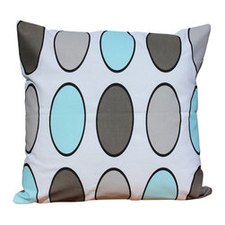 Auburn Design Studio - Cotton Big Polka Dots Pillow - Cotton Printed Pillow.