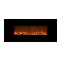 Yosemite Home Decor - Yosemite Home Decor Carbon Flame 58 Wall Mount Electric Fireplace Multicolor - D - Shop for Fire Places Wood Stoves and Hardware from Hayneedle.com! Heat up your modern space with the stylish Yosemite Home Decor Carbon Flame 58 Wall Mount Electric Fireplace. This Wall Mounted fireplace features flames with a patented pattern that imitates real flames and works with or without heat. The handy remote control means you can turn it on or off across the room and its sleek black glass surface and easy installation make it perfect. About Yosemite Home DecorYosemite Home Decor has set out to become the leader in lighting and unique home products. This company is based in the Central Valley of Fresno California and was founded in 1983. From premier lighting fixtures to modern fireplaces bathroom vanities to fountains Yosemite offers quality products guaranteed to beautifully transform your space.