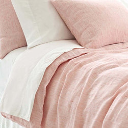 Bonaire Linen Duvet Cover - A heather pink duvet brings sophisticated and luxurious design to your bedroom.