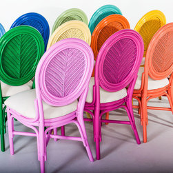 The Matisse Chair, Set of 2 - Take your choice of candy-colored springtime hues in these rattan chairs.