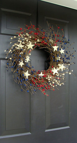 Patriotic Berry Wreath by Elegant Holidays - This wreath looks like fireworks!