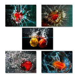 Ready2HangArt - Ready2hangart Bruce Bain 'Pepper Splash' Canvas Wall Art - This beautiful canvas wall art is from photographer Bruce Bain. His work employs elements of imagination to capture a variety of subjects. It is fully finished, arriving ready to hang on the wall of your choice.