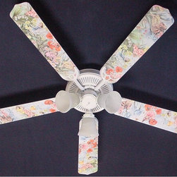 Ceiling Fan Designers - Ceiling Fan Designers Magical Fairies Indoor Ceiling Fan - 42FAN-KIDS-MFF - Shop for Ceiling Fans and Components from Hayneedle.com! The pretty fairies on the Ceiling Fan Designers Magical Fairies Indoor Ceiling Fan look like they came straight from a fairy tale. A perfect addition to her nursery this adorable ceiling fan is filled with soft colors and magical fairies. It will cool down and light up her room in style because it's a ceiling fan and light kit combo. It comes in either 42-inch with 4 blades or 52-inch with 5 blades. This beauty will grow with your little princess as the blades are reversible. Her colorful fairies design is on one side and soft white is on the other. It has a powerful yet quiet 120-volt 3-speed motor with easy switch for year-round comfort. The 42-inch fan includes a schoolhouse-style white glass shade and requires one 60-watt candelabra bulb (not included). The 52-inch fan has three alabaster glass shades and requires three 60-watt candelabra bulbs (included). Your ceiling fan includes a 15- to 30-year manufacturer's warranty (based on size). A magical addition to her bedroom.